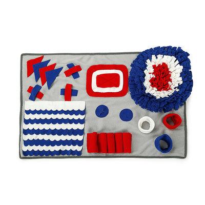 Snuffelmat 50x75 cm Grijs/Blauw Dogs&Co