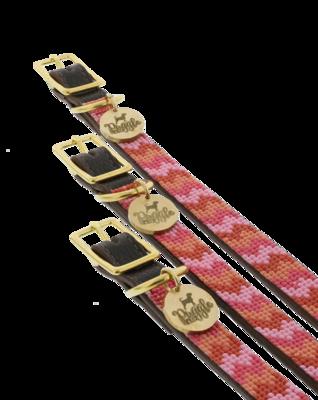 Halsband Suus Leder Roze
