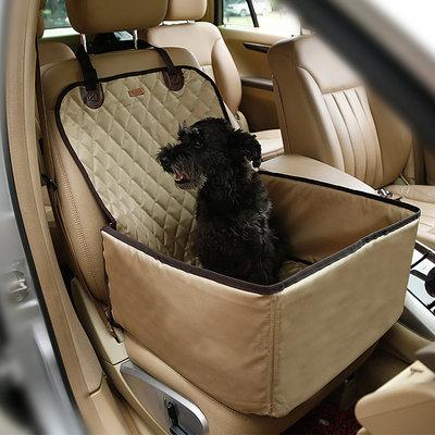 Autostoel voor de hond 45x45cm Beige Dogs&Co
