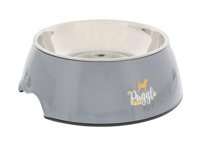 Voerbak melamine  grijs Puggle&Co