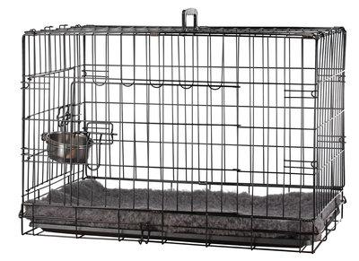 Bench Zwart 76x45x51 CM + Vet Bed Grijs
