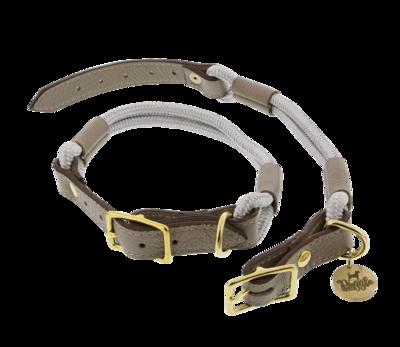 Halsband Nylon/Leer Pepper Grijs
