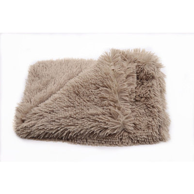 Fluffy Hondendeken 100x75 cm Khaki bruin
