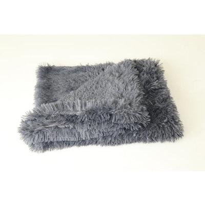Fluffy Hondendeken 100x75 cm Antraciet