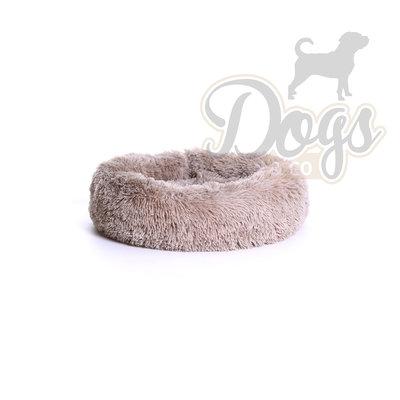 Fluffy Donut Khaki bruin 50cm (S) Dogs&Co