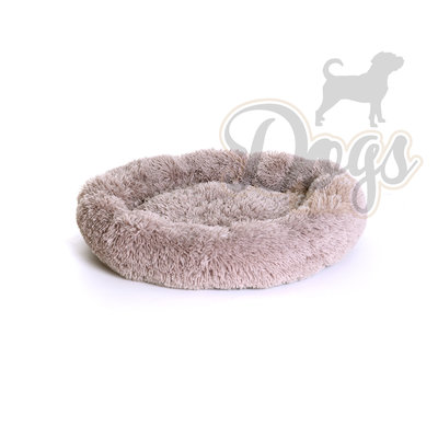 Fluffy Donut Khaki bruin 70 cm (M) Dogs&Co