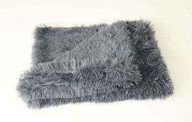 Fluffy Hondendeken - 80x55 cm - Antraciet