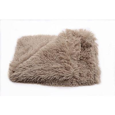 Fluffy Hondendeken - 80x55 cm - Khaki Bruin