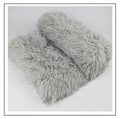 Fluffy Hondendeken - 80x55 cm -Grijs