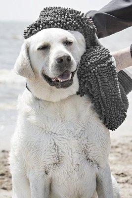 Honden Handdoek - Grijs - 80 x 35 cm - Dogs&Co