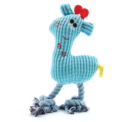 Hondenknuffel HAPPY met piep Blauw