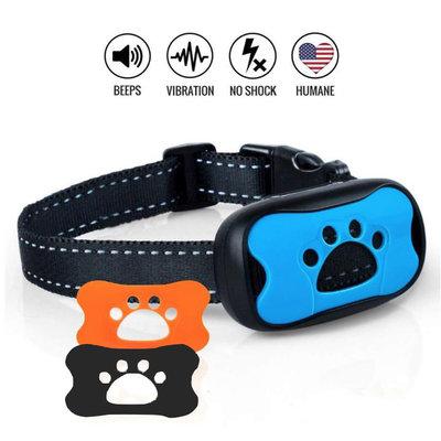 Anti blafband- Kleine Hond - Diervriendelijk - GEEN Schok - Oplaadbaar - Hondenhalsband - Met 3 kleuren frontjes
