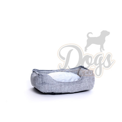 Dogs&Co Hondenmand Linnen Grijs Maat XS -  47x37cm