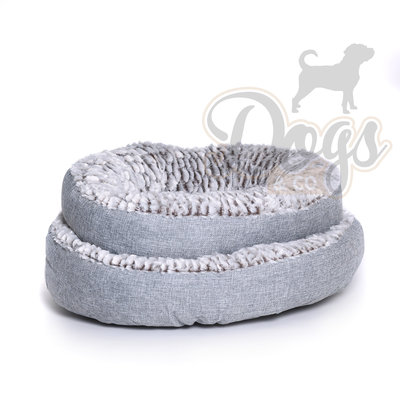 Dogs&Co Hondenmand rond grijs 50cm