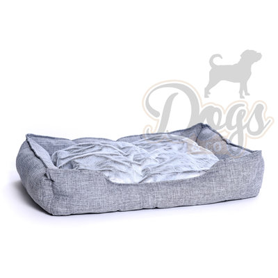 Dogs&Co Hondenmand Linnen Grijs Maat L - 90x70cm