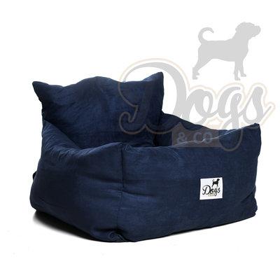 Dogs&Co Luxe honden autostoel ROYAL NAVY