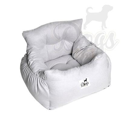Dogs&Co Luxe honden autostoel ROYAL GRIJS