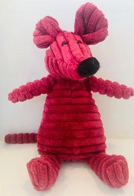 Dogs&Co Knuffel Roze Muis met piep