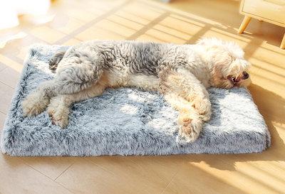 Dogs&Co Fluffy honden ligbedGrijs XXL 120x80cm