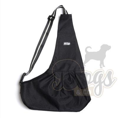 Dogs&Co Draagtas Hond - Nylon Zwart - Hondentas 64x45 cm - Maat L