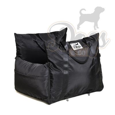Dogs&Co Luxe Honden autostoel  Royal+  ZWART Waterproof