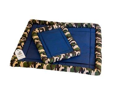 Koelmat met rand - Camouflage  - Afmetingen: 80x65cm