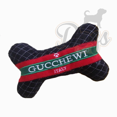 Designer knuffel voor je hond - Hondenspeelgoed Gucchewi Luxurious Bone