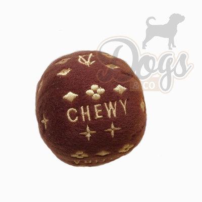 Designer knuffel voor je hond - Hondenspeelgoed Chewey Vuiton Bal