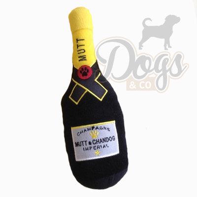 Hondenspeelgoed Mutt&Chandog champagnefles