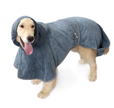 Super absorberende Honden Badjas grijs