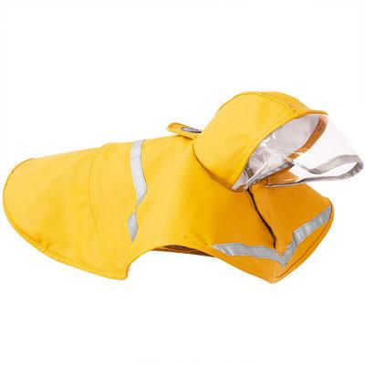 Waterproof regenjas - poncho voor honden met reflector - GEEL