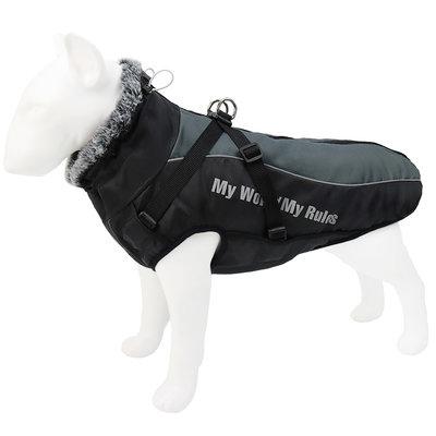Winter Outdoor jas voor grotere honden Zwart/Grijs