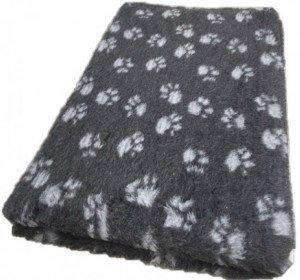 Vetbed Antra met grijze voetprint Antislip 100x75cm