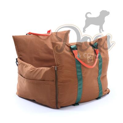 Dogs&Co Luxe Honden autostoel  Royal+  BRUIN Waterproof