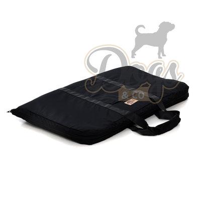 Draagbare Honden Reismat Zwart 100x75cm Maat M