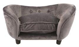 Enchanted Hondenmand Sofa Ultra Pluche Snuggle Donkergrijs 68 x 40,5 x 37,5 cm